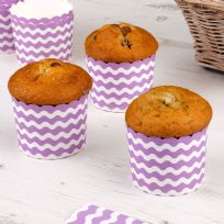 Carnival Purple Baking Cups - Waves (24)